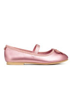 Ballet pumps with strap - Pink/Metallic - Kids | H&M 2
