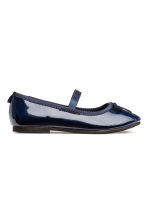Ballet pumps with strap - Dark blue - Kids | H&M CN 2