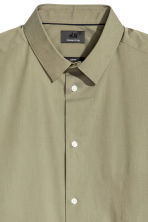 Short-sleeved stretch shirt - Khaki green - Men | H&M 3
