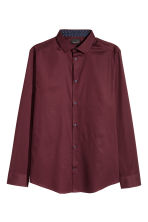 Premium cotton shirt - Burgundy - Men | H&M CA 2