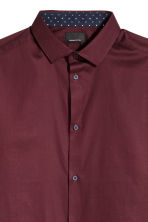 Premium cotton shirt - Burgundy - Men | H&M CA 3