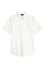 Shirt in premium cotton - White/Spotted - Men | H&M CN 2