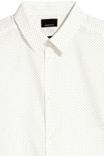 Shirt in premium cotton - White/Spotted - Men | H&M CN 3