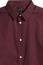 Cotton shirt Slim fit - Burgundy/White spotted - Men | H&M 3
