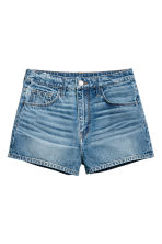 Denim shorts High waist - Denim blue - Ladies | H&M CA 2
