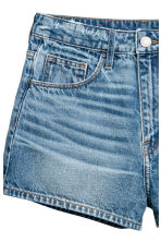Denim shorts High waist - Denim blue - Ladies | H&M 4