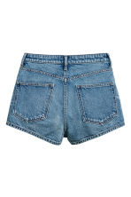 Shorts in denim High waist - Blu denim - DONNA | H&M IT 3