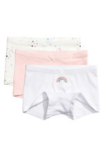 3-pack boxer briefs - Light pink - Kids | H&M 1