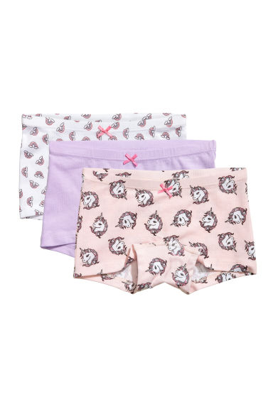 3-pack boxer briefs - Light purple/unicorns - Kids | H&M CA