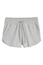 Sweatshirt shorts - Grey marl - Ladies | H&M CA 2