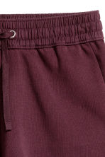 Sweatshirt shorts - Plum - Ladies | H&M 3