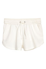 Short van joggingstof - Wit - DAMES | H&M BE 2