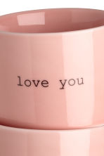 Lot de 2 mugs en porcelaine - Rose clair - Home All | H&M FR 2