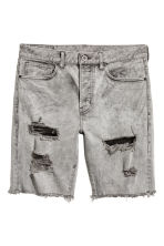 Denim shorts - Grey denim - Men | H&M CN 2