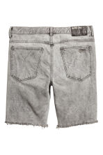 Denim shorts - Grey denim - Men | H&M CN 3