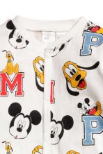 Printed all-in-one pyjamas - Natural white/Mickey Mouse -  | H&M 2