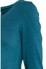 MAMA Jersey top - Teal blue - Ladies | H&M CN 3