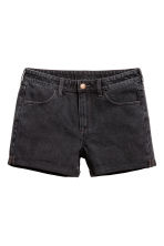 Denim shorts - Dark grey denim - Ladies | H&M CN 2