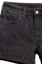 Denim shorts - Dark grey denim - Ladies | H&M 4