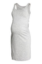 MAMA Jersey dress - Grey marl - Ladies | H&M 2