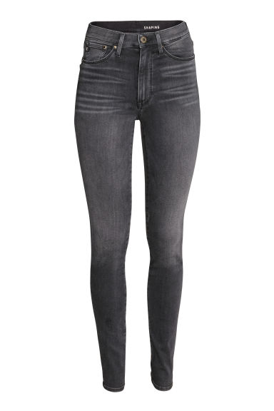 Shaping Skinny High Jeans - Donkergrijs - DAMES | H&M BE