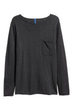 Fine-knit jumper - Anthracite grey - Men | H&M 2