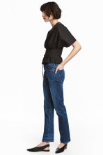 Straight Regular Jeans - Dark denim blue - Ladies | H&M GB 4