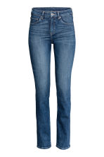 Straight Regular Jeans - Dark denim blue - Ladies | H&M GB 2