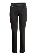 Straight Regular Jeans - Zwart - DAMES | H&M BE 2