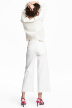 Denim culottes High waist - White denim -  | H&M GB 3
