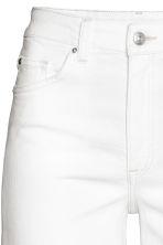 Denim culottes High waist - White denim -  | H&M GB 4
