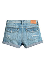 Denim shorts - Denim blue trashed - Ladies | H&M 4