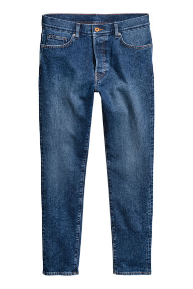 Slim Low Jeans - Dark denim blue - Men | H&M
