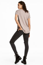 Biker jeans Skinny fit - Negro washed out - MUJER | H&M ES 5
