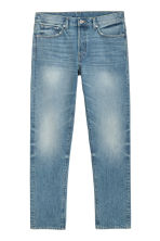 Straight Jeans - Blauw washed out - HEREN | H&M NL 3