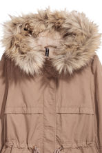Pile-lined parka - Beige - Ladies | H&M CN 4
