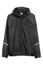 Running jacket - Black/Patterned - Men | H&M 2