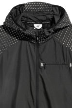 Running jacket - Black/Patterned - Men | H&M 4