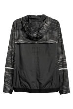 Running jacket - Black/Patterned - Men | H&M 3