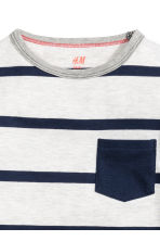 Long-sleeved T-shirt - Light grey/Striped - Kids | H&M CN 3