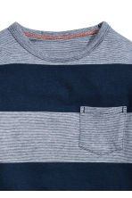 Long-sleeved T-shirt - Dark blue/Striped - Kids | H&M CN 3