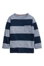 Long-sleeved T-shirt - Dark blue/Striped - Kids | H&M CN 2