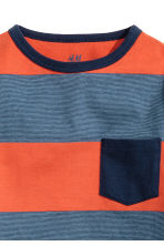 Long-sleeved T-shirt - Orange/Striped - Kids | H&M CN 3