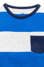 Long-sleeved T-shirt - Bright blue/white striped -  | H&M CA 3