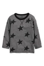 Tricot T-shirt - Donkergrijs/sterren - KINDEREN | H&M BE 2