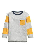 Long-sleeved T-shirt - Yellow -  | H&M 2