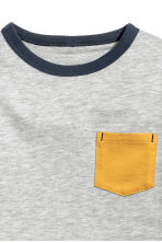 Long-sleeved T-shirt - Yellow -  | H&M 3