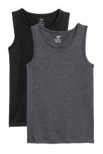 2-pack vest tops - Black - Kids | H&M 2