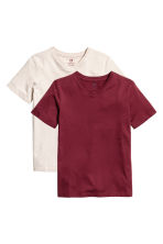 2-pack T-shirts - Burgundy -  | H&M CA 2