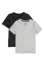 2-pack T-shirts - Black -  | H&M CA 2